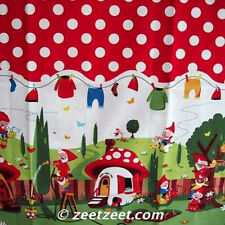 Michael Miller GNOMEVILLE Polka Dot Border Gnome Fabric by the YARD Gnomes