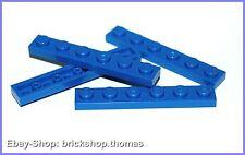 Lego 4 x Platte (1 x 6) - 3666 blau - Blue Plate - NEU / NEW
