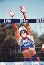 NET INTENSITY Vintage FOUND PHOTOGRAPH Color FREE SHIPPING Volleyball Girl 736