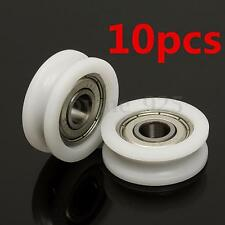 10Pcs Plastic High Carbon Steel 608 Groove Ball Bearings Guide Pulley 30mm*8mm