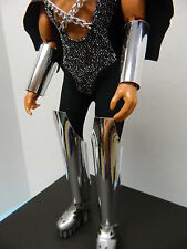 KISS Mego Doll Gene Simmons (Custom ARM and LEG SHIELDS Only) Not Aucoin