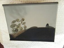 "VINTAGE MODERN BLACK METAL FRAME - 8"" x 9 3/4"" - THICK GLASS"