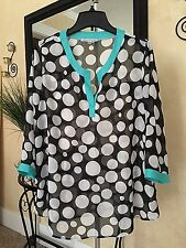 ANNALEE + HOPE Polka Dot Chiffon Top XL