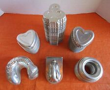 Lot of 66 Assorted Vintage Aluminum Jello Molds Rings Cup Candy Tart Swirl Star