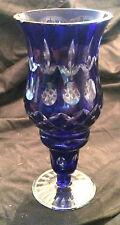 Hurricane Style Cobalt Blue Crystal Candle Holder... No Chips or Cracks!!!