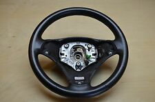06-08 BMW E90 325I 328I 330I BLACK LEATHER STEERING WHEEL OEM