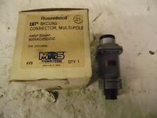 New in Box Russellstoll SKCU5G 4W5P 20 Amp 600 Vac/250 VDC Connector, Multi-Pole
