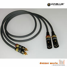 ViaBlue 2x 1m Adapterkabel NF-A7 T6s / XLR Cinch male / High End…SPITZENKLASSE