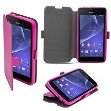 % 3 Book Case Flexi Hülle Schutzhülle Etui Handy Tasche Für Huawei Shot X pink