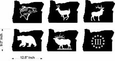 Choose 1 Oregon State Decals Hunting Fishing Elk Rockfish Bear Vinyl Decals