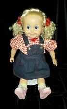 "Vintage Cricket 25"" Talking Doll Original Country Fair Outfit  Playmates 1986"