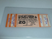 VINTAGE TICKET SUGAR RAY VS DURAN WELTERWEIGHT CHAMPIONSHIP SIOUX FALLS SD 1980