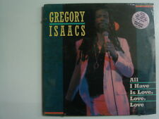 GREGORY ISAACS All I Have Is Love Love Love REGGAE LP SEALED TAD'S Hype Sticker