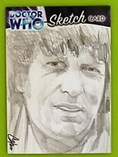 Dr Doctor Who Trilogy Sketch Card drawn by Cat Staggs