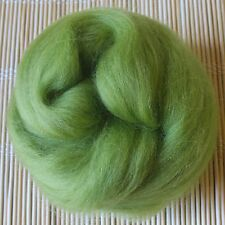 100g Merino Wool Tops 64's Dyed Fibres - Chartreuse - Felt Making and Spinning