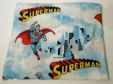 VINTAGE 1978 SUPERMAN MAN OF STEEL TWIN BED SHEET EXCELLENT SHAPE