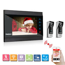 Tmezon Wireless 7 Inch LCD Monitor WIFI Video Intercom Doorbell Door Phone Bell