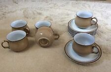 Set of 6 Denby cups and saucers Viceroy