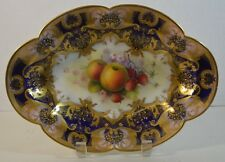 Vintage Royal Worcester Hand Painted Porcelain Oval Plate Repair Albert Shuck