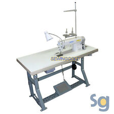 JUKI DDL-5550N Industrial Sewing Machine with Stand, Servo Motor and Setup DVD