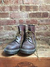 DR MARTENS 1460 BROWN 8-EYE BOOTS ENGLAND WOMENS US 7 WORK BOOTS