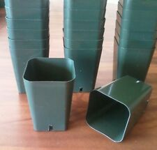 "100 Qty Seed Starting -2 1/4"" square x 3 1/4"" Deep  Rose Pots quality durable"