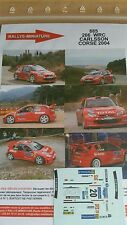 PROMO Decals 1/43  ref 885 PEUGEOT 206 WRC CARLSSON CORSE 2004