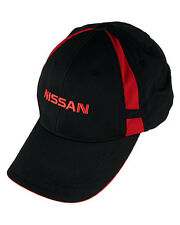 OFFICIALLY LICENSED NISSAN MESH INSERT CAP HAT BLACK WITH RED