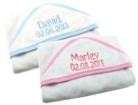 Personalised Baby Hooded Towel, Embroidered New baby/Christening Gift, ANY NAME!