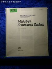 Sony Bedienungsanleitung MHC C50 Mini Hifi Component System (#0770)