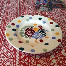 "Emma Bridgewater Polka Dots Turkey  8.5"" Plate New Best"