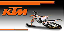 KTM Timbersled SnowBike Racing Snocross Garage Trailer Banner Sign