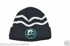 Pink Dolphin HOLIDAY WAVES Navy White Teal  Patch Skull Cap Men's Knit Beanie
