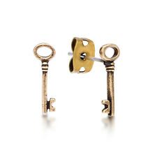 Disney Couture Alice in Wonderland Gold-Plated Little Key Stud Earrings