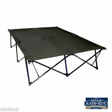NEW Kamp Rite Dual Double Kwik Cot Camping Folding Bed Outdoor Portable Camp