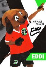 Maskottchen EDDI + Hannover 96 + Saison 2015/2016 + Original Autogrammkarte +