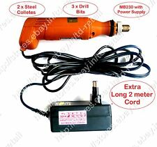 High Precision PCB Drill Machine - MICRODRILL MB230 with Power Supply+Collet+Bit