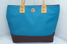 Tory Burch Handbag Jaden Tote Blue Brown Bag Satchel Hobo NWT