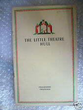 1937 Hull R. Theatre Programme THE BEGGAR'S OPERA- Mr. Gay