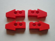 Lego 4 briques pointes rouges set 8856 5935 8422 8232 / Technic Slope Long