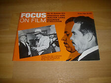 FOCUS on Film Magazine Warren Oates as DILLINGER cover # 18 Summer 1974