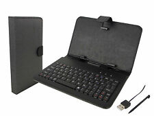 """Supersonic SC-107KB Keyboard Case Set  7"""" tablet Stylus Pen & USB Charging Cable"""
