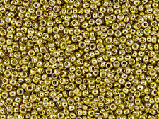 15/0 Japanese Toho Seed Beads Permanent Gold Galvanized #PF557