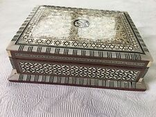 Moustafa Hafez Handmade Jewelry Box In Egypt With Inlaid Mother Of Pearl 10 x8x3