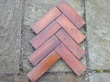 Reclaimed hardwood block flooring parquet not floorboards