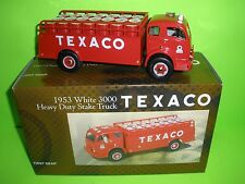 TOUR WITH TEXACO 1953 WHITE STAKE BED DELIVERY TRUCK FIRST 1ST GEAR 18-2238