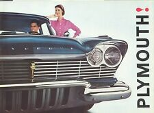 1957 Plymouth Belvedere Plaza Savoy Suburban Full Line Sales Brochure