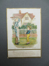 ANTIQUE CHRISTMAS Card Kate Greenaway Simple Simon Nursery Rhyme Victorian 1880s