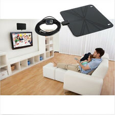 Indoor HD Flat Design Amplified TV Digital Antenna w/ Amplifier 50 Miles Range