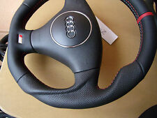 AUDI A3 A2 A4 B6 A6 A8 TT S4 S-Line thick flat bottom custom steering wheel NEW
